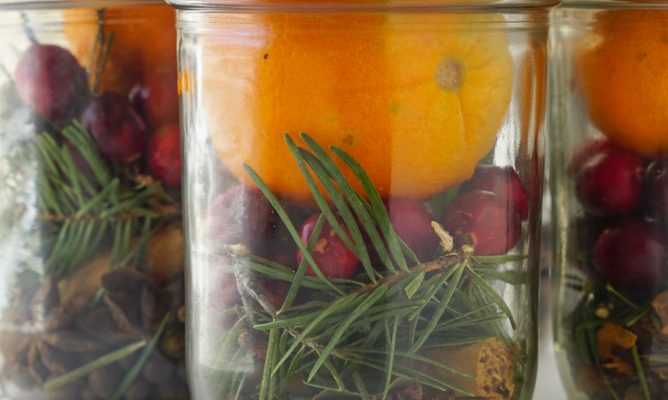 DIY Christmas Potpourri Mason Jar Gift