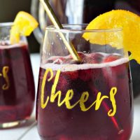 Orange Cranberry Ginger Sangria