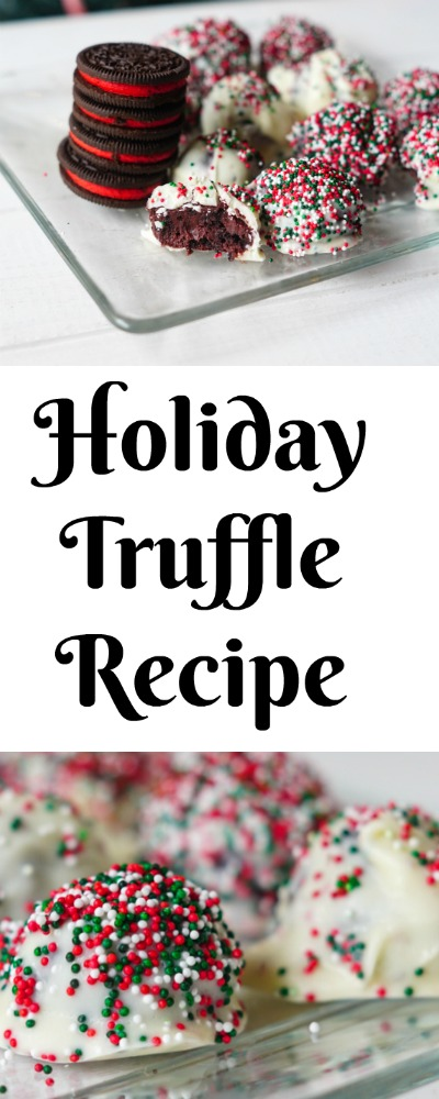 Easy Holiday Truffle Recipe Made with Holiday Oreos