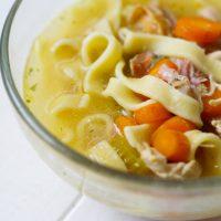 10 Minute Pressure Cooker Chicken Noodle Soup