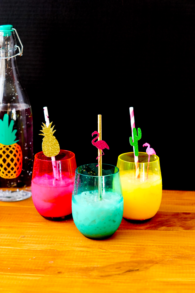 DIY Straw Decorations and Easy Italian Soda Recipe