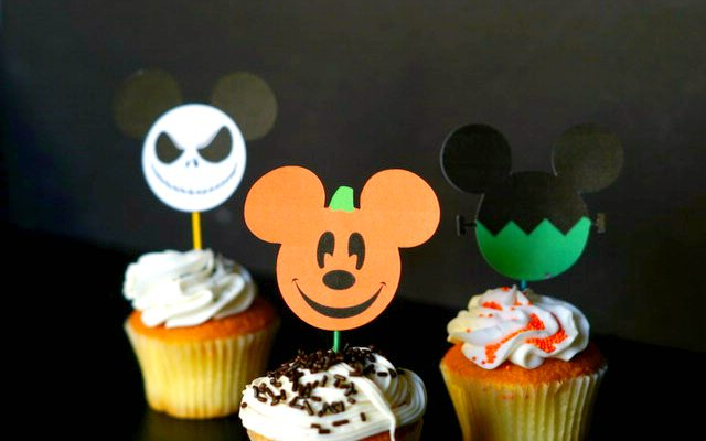 Disney Halloween Inspired Cupcake Toppers