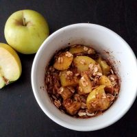 2-Minute Apple Crisp in a Mug Recipe