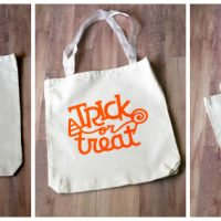 Diy Trick-Or-Treat Bags with Heat Transfer Vinyl