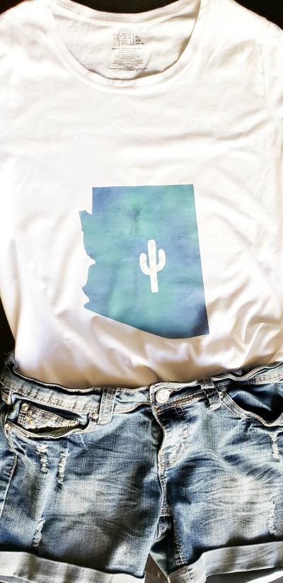 DIY Arizona T-Shirt Design With Cricut Maker - Clever Pink Pirate