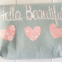 DIY Makeup Bag Made with Cricut Maker